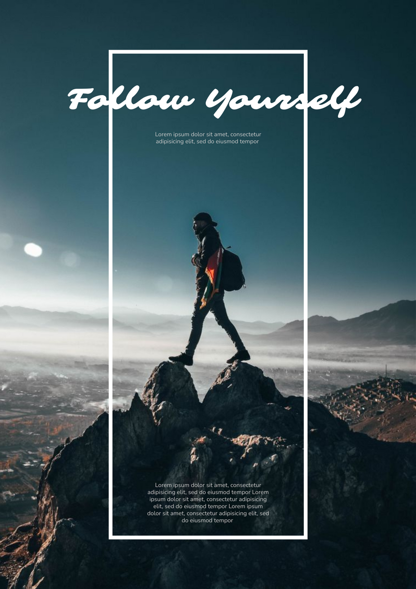 Poster template: Follow Yourself Poster (Created by InfoART's Poster marker)
