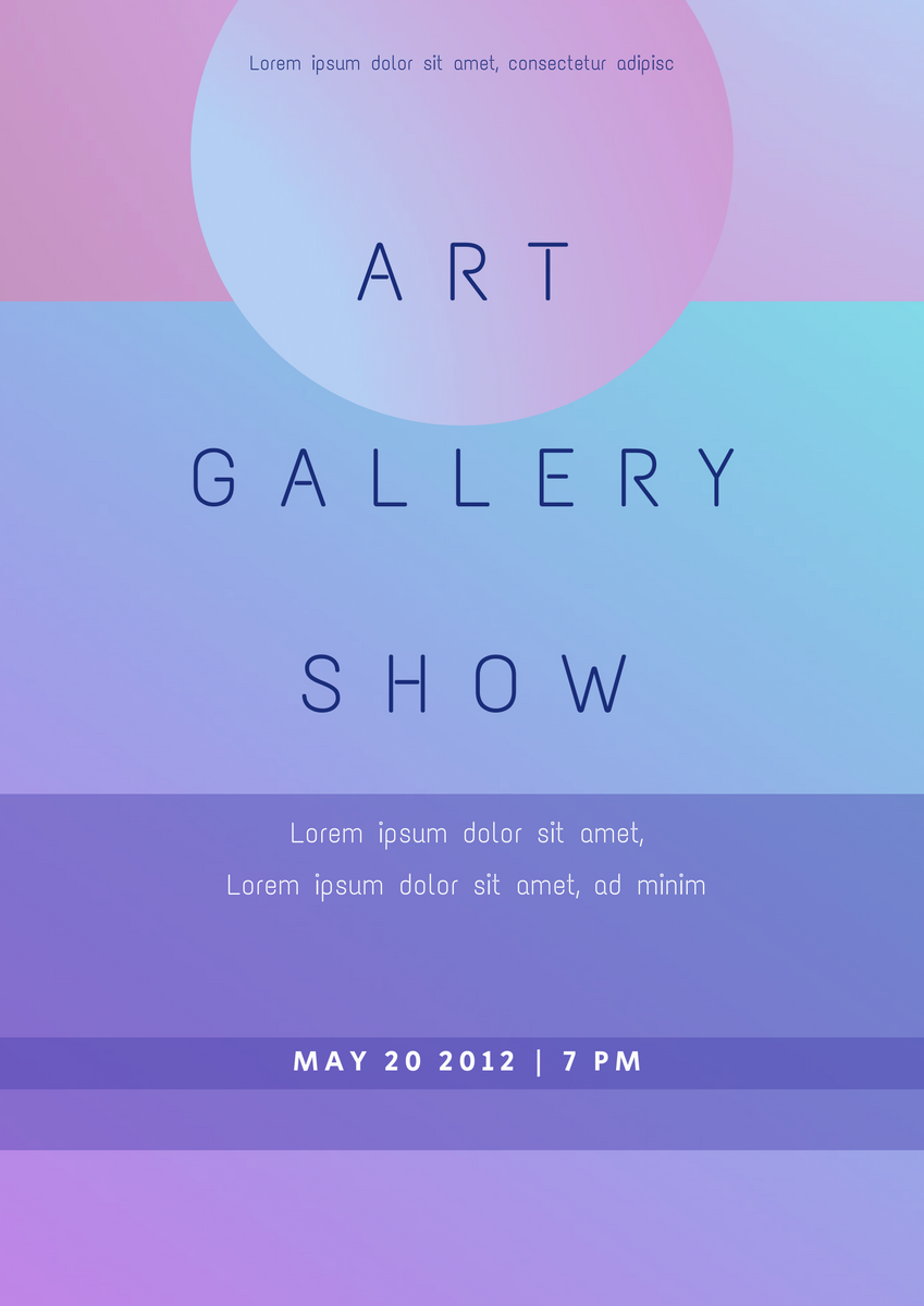 Poster template: Gradient Poster 2 (Created by InfoART's Poster marker)