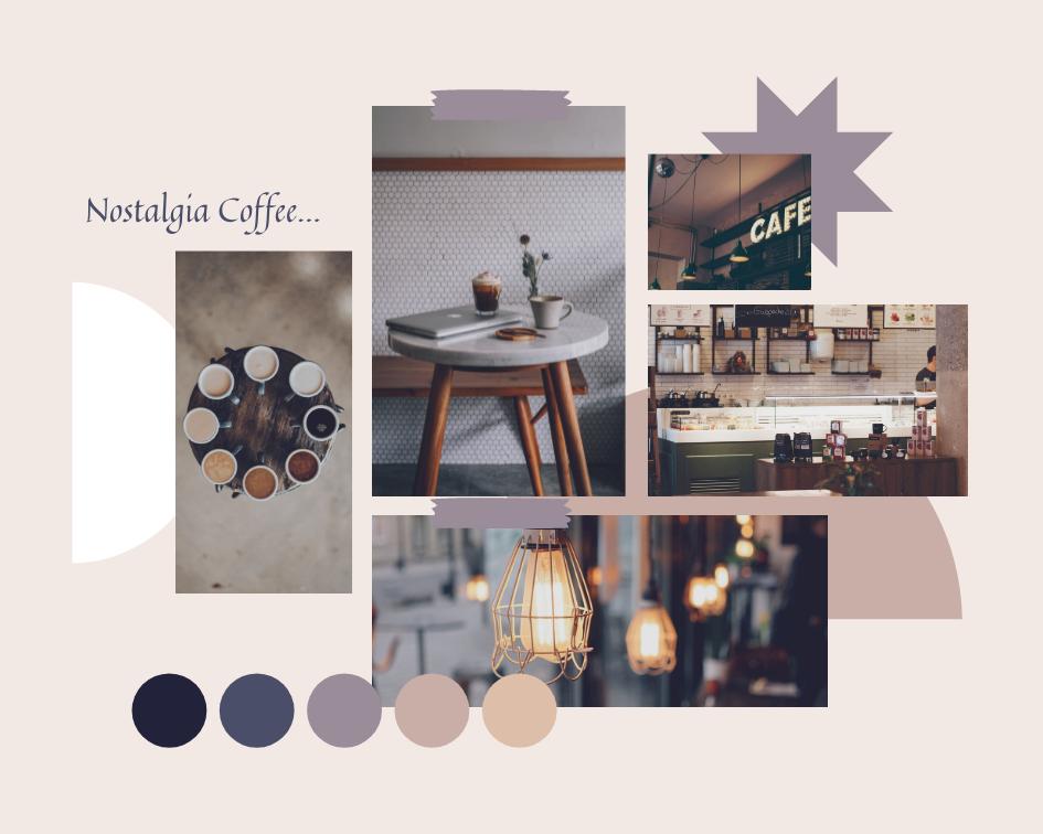 Mood Board template: Nostalgia Coffee Mood Board (Created by Collage's Mood Board maker)