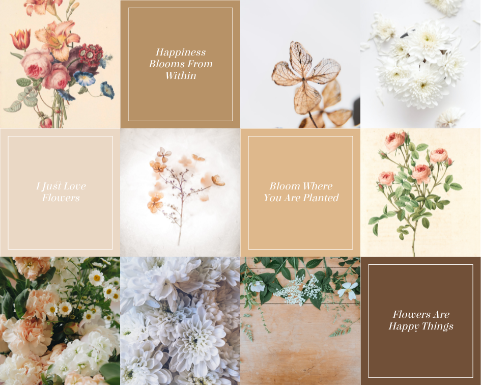 Mood Board template: Flowers Blooming Mood Board (Created by Collage's Mood Board maker)