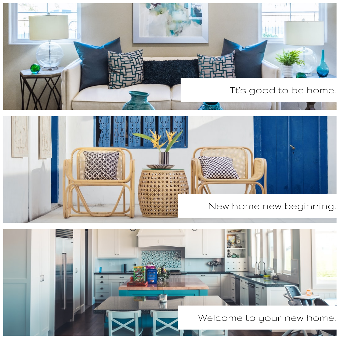 Photo Collage template: New Home New Beginning Photo Collage (Created by Collage's Photo Collage maker)