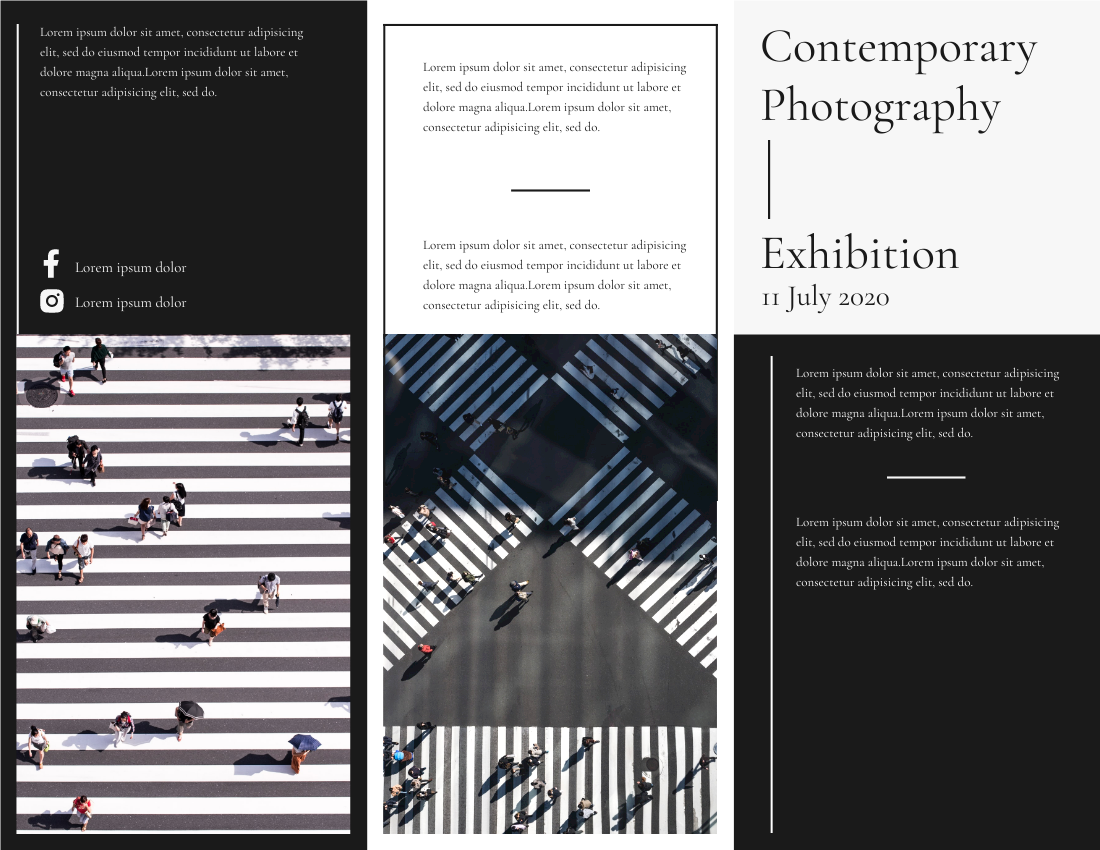 Brochure template: Photography Exhibition Brochure (Created by InfoART's Brochure maker)