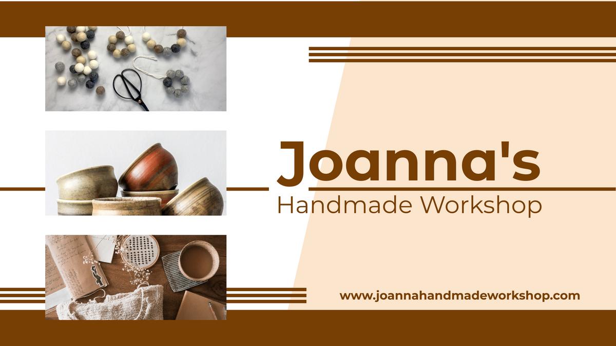 YouTube Channel Art template: Handmade Workshop YouTube Channel Art (Created by Collage's YouTube Channel Art maker)