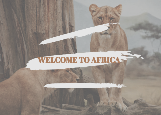 Post Card template: Africa Poster (Created by InfoART's Post Card marker)