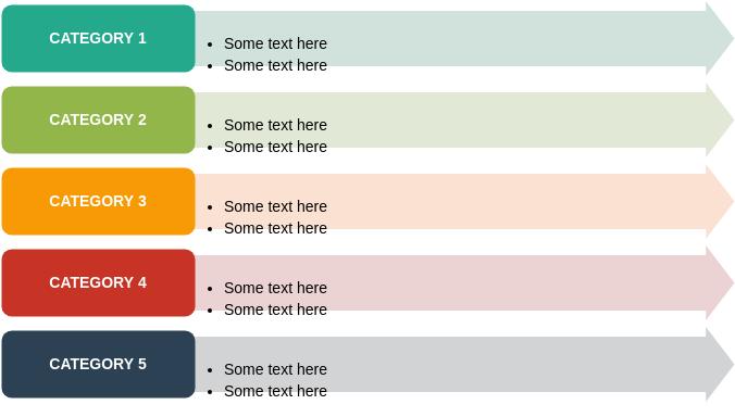 列表框圖 template: Vertical Arrow List (Created by Diagrams's 列表框圖 maker)