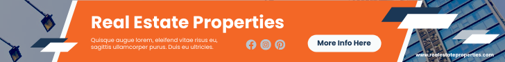 Banner Ad template: Real Estate Properties Banner Ad (Created by InfoART's Banner Ad maker)
