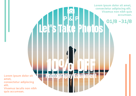Gift Card template: Photography Equipment Gift Card (Created by InfoART's Gift Card marker)