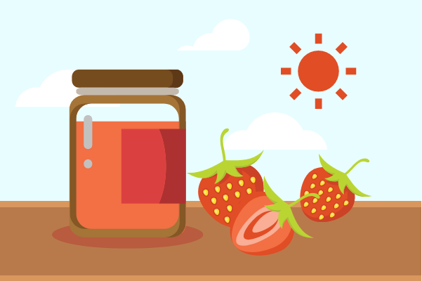 Container template: Fresh Jam (Created by InfoChart's Container maker)