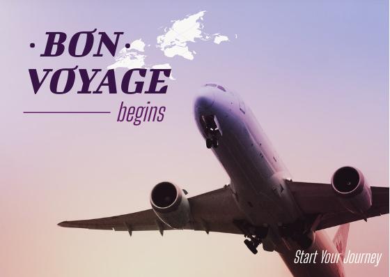 Postcard template: Bon Voyage Postcard (Created by InfoART's Postcard maker)