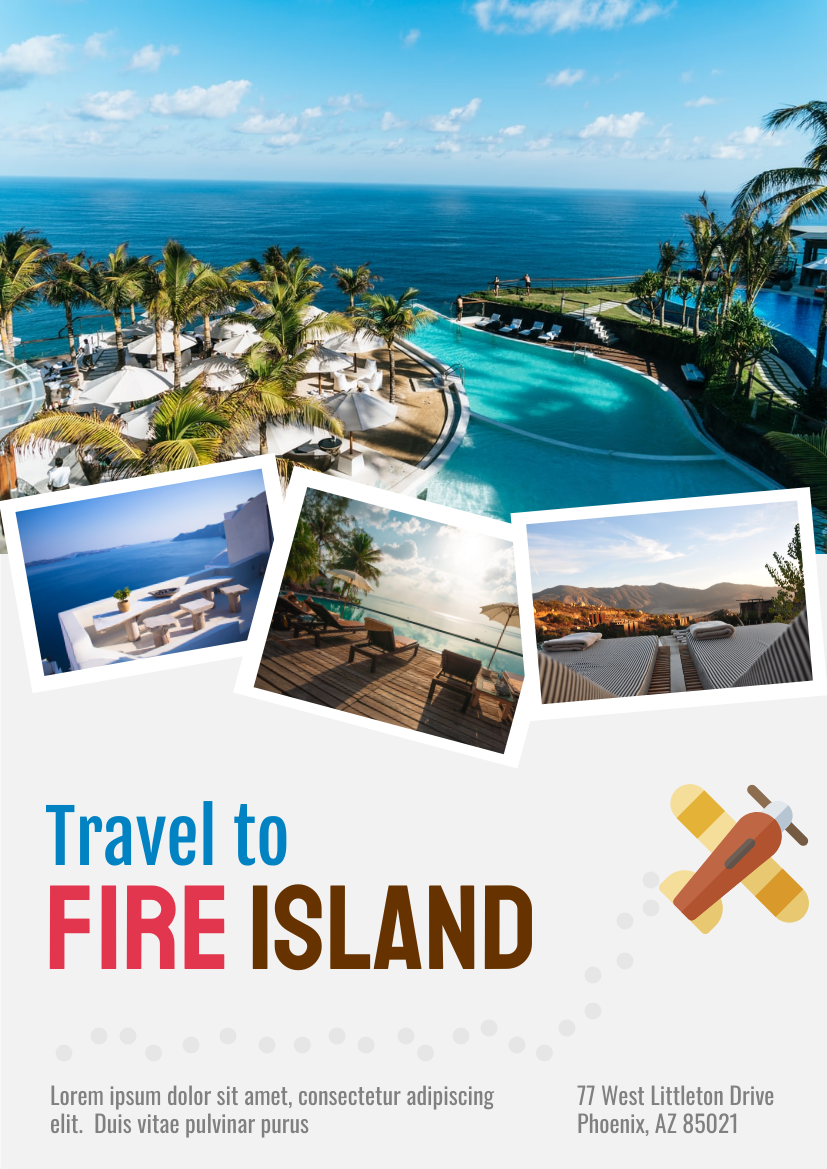 Flyer template: Travel Vacation (Created by InfoART's Flyer maker)
