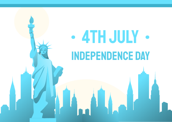 Postcard template: independence Day Postcard (Created by InfoART's Postcard maker)