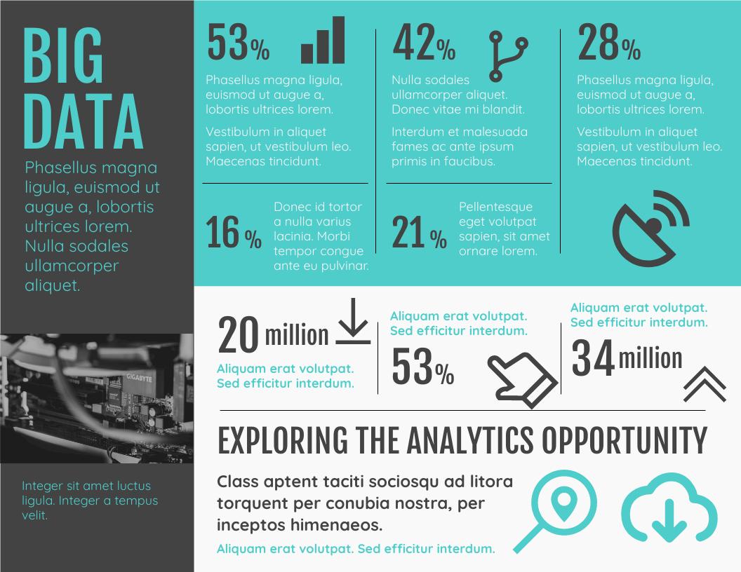 Infographic template: Big Data Analytics Horizontal Infographic (Created by InfoART's Infographic maker)