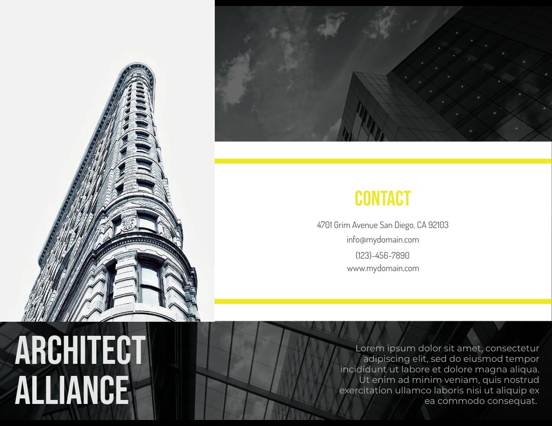 Brochure template: Architect Alliance Brochure (Created by InfoART's Brochure marker)