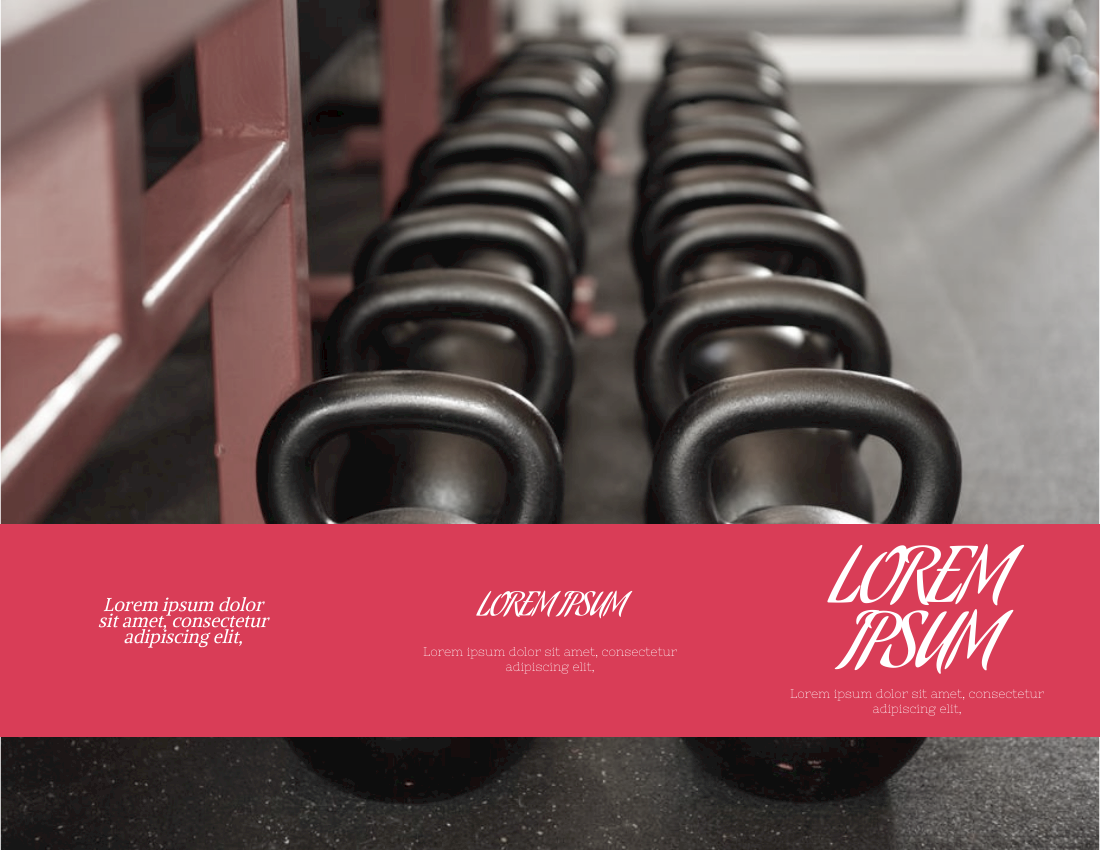 Brochure template: Fitness Brochure (Created by InfoART's Brochure marker)