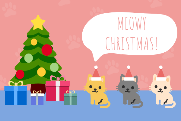 Greeting Card template: Cat Christmas Card (Created by InfoART's Greeting Card maker)