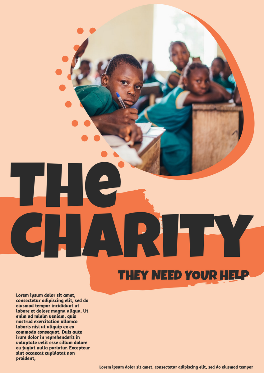 Poster template: The Charity Poster (Created by InfoART's Poster maker)