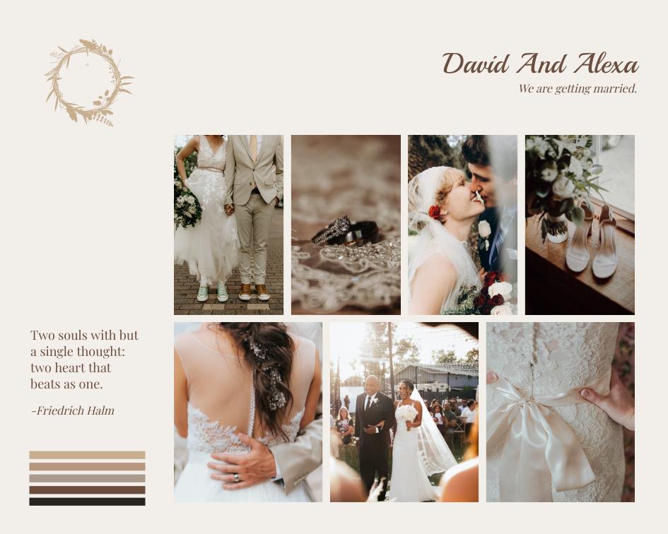 Mood Board template: Wedding Romance Mood Board (Created by Collage's Mood Board maker)
