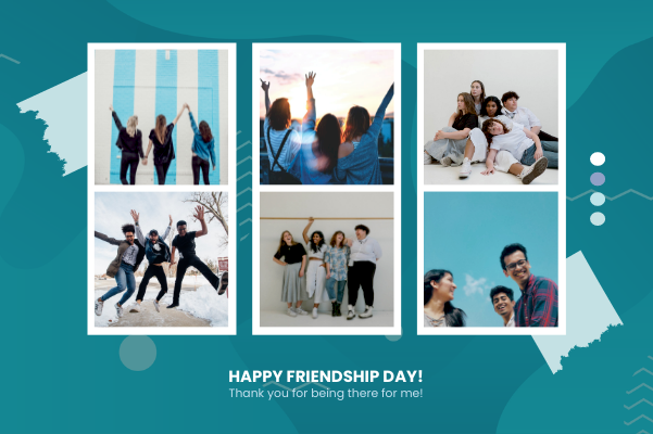Greeting Card template: Happy Friendship Day Greeting Card (Created by Collage's Greeting Card maker)