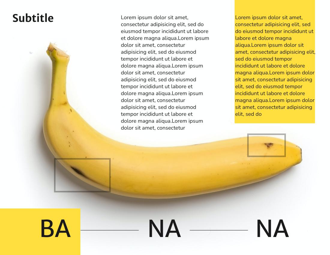 Brochure template: Banana Brochure (Created by InfoART's Brochure marker)