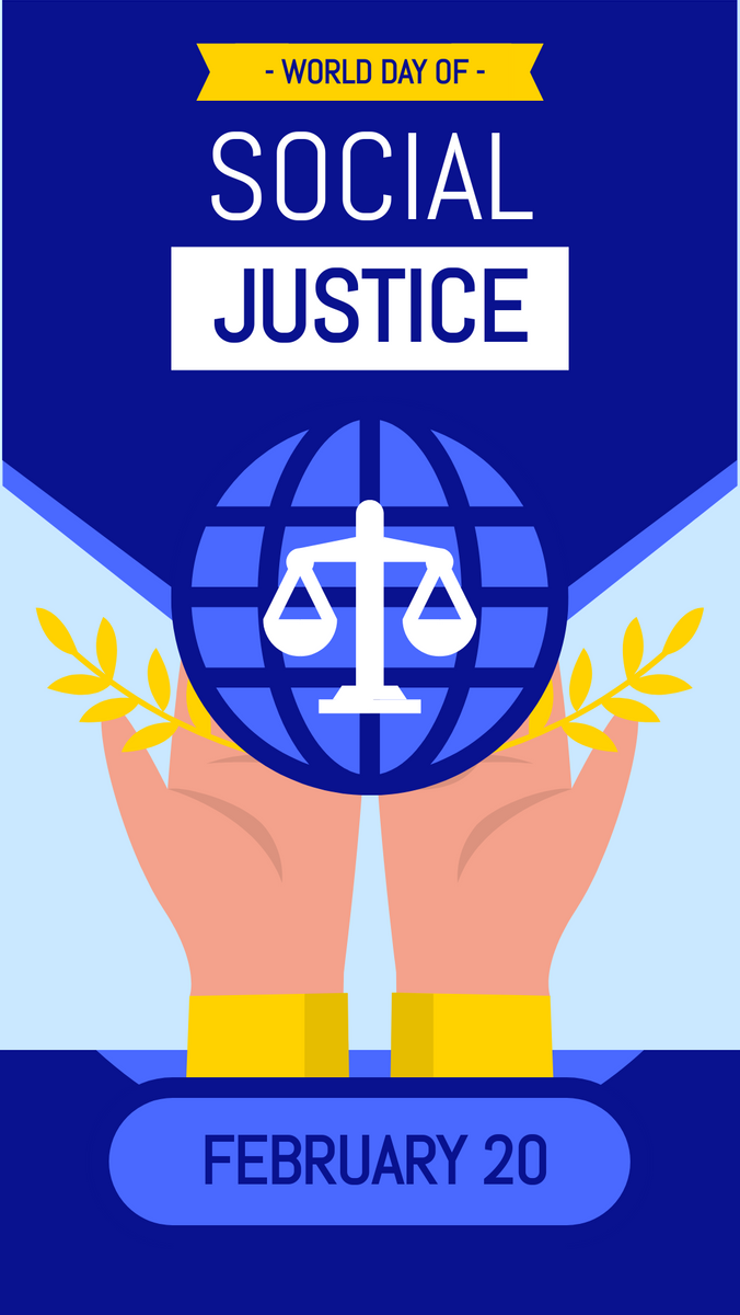 Instagram Story template: World Day Of Social Justice Instagram Story (Created by InfoART's Instagram Story maker)