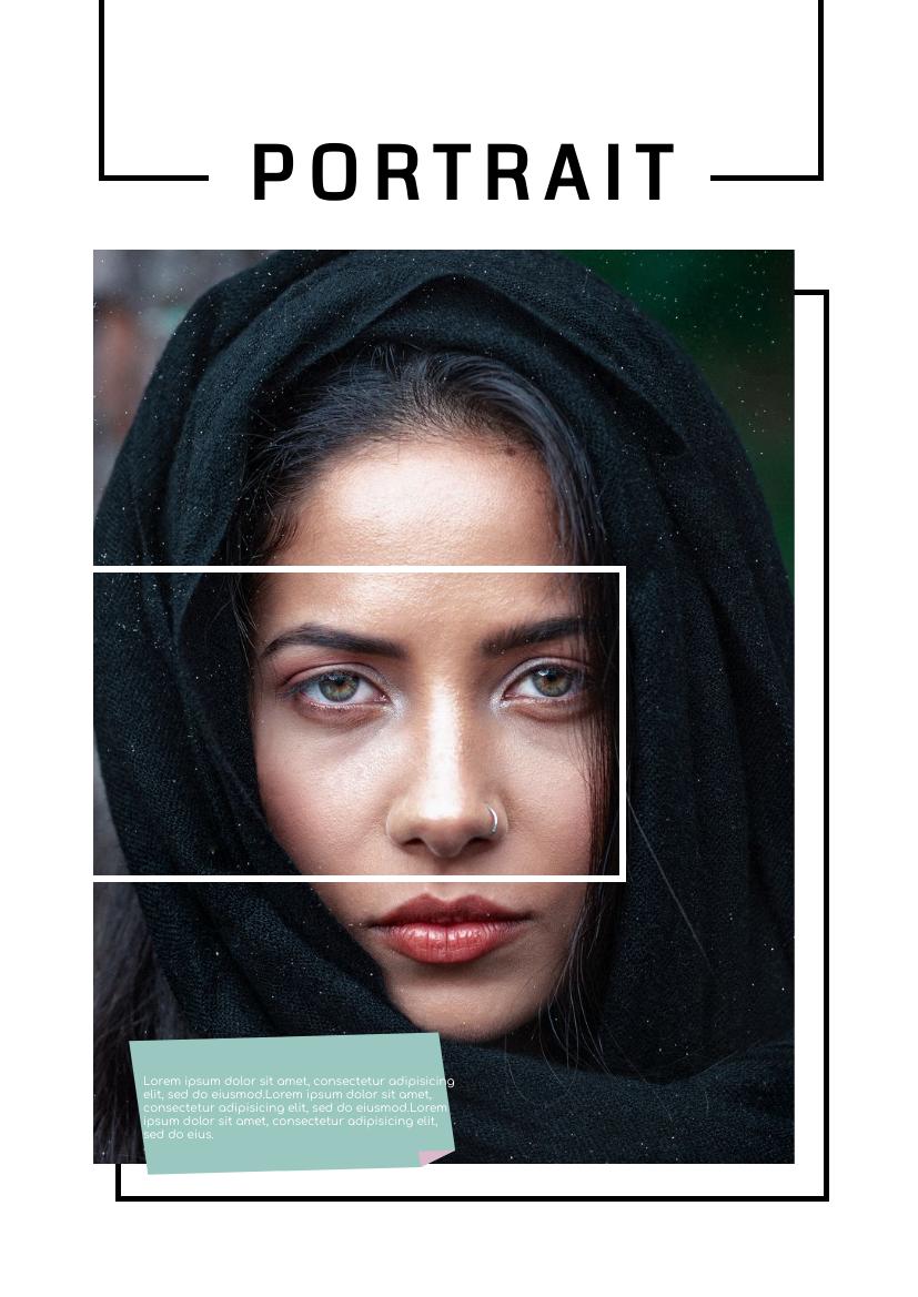 Flyer template: Portrait Flyer (Created by InfoART's Flyer maker)