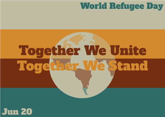 Postcard template: World Refugee Day Earth Postcard (Created by InfoART's Postcard maker)