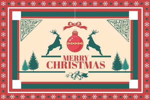 Greeting Card template: Snowflake Christmas Greeting Card (Created by InfoART's Greeting Card maker)