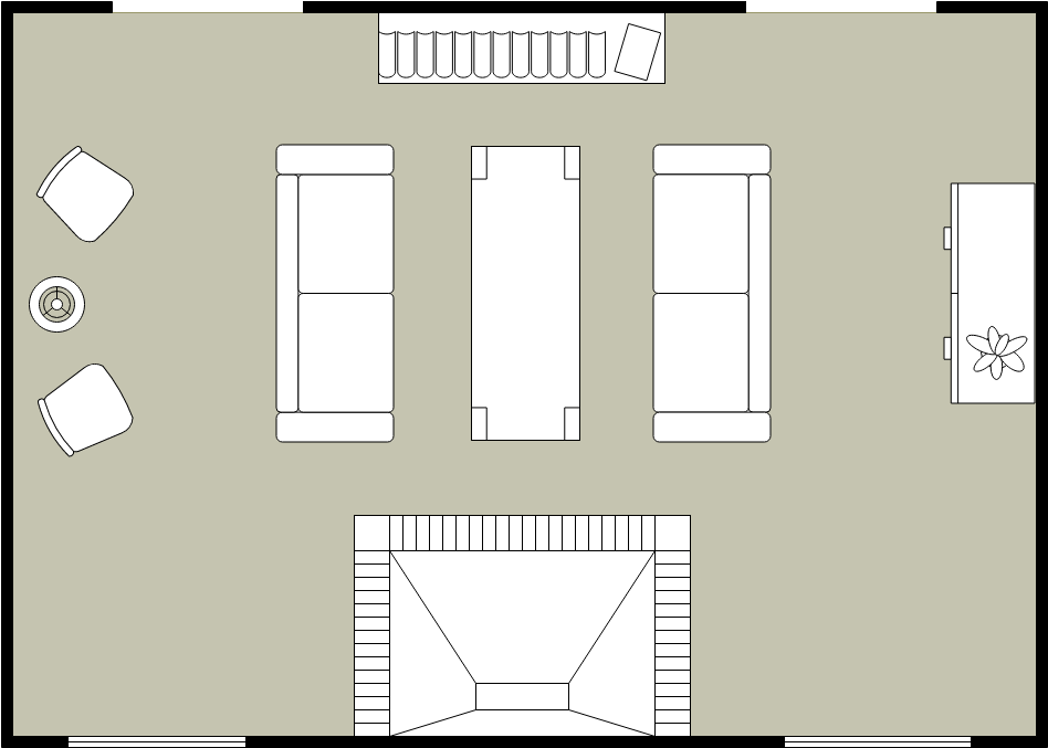 Living Room Section (Living Room Example)