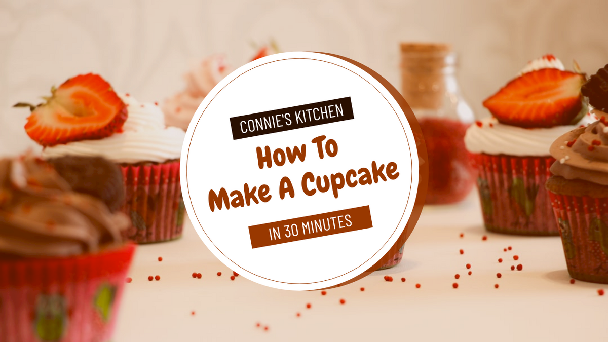 YouTube Thumbnail template: Red Cakes Photo Cupcake Tutorial YouTube Thumbnail (Created by InfoART's YouTube Thumbnail maker)