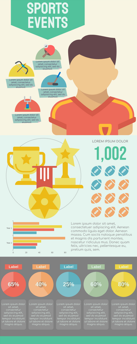 Infographic template: Infographic Of Sports Events (Created by InfoART's Infographic maker)