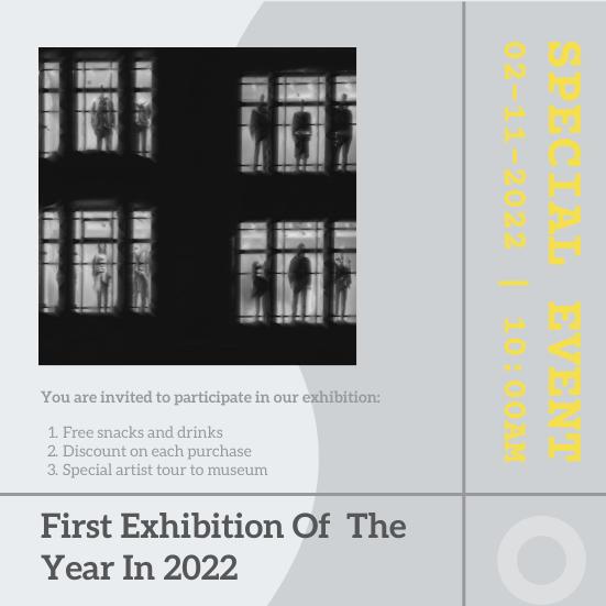 Invitation template: Illuminating Exhibition Opening Invitation (Created by InfoART's Invitation maker)
