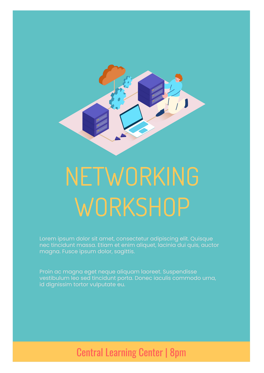 Poster template: Networking Workshop Poster (Created by InfoART's Poster maker)