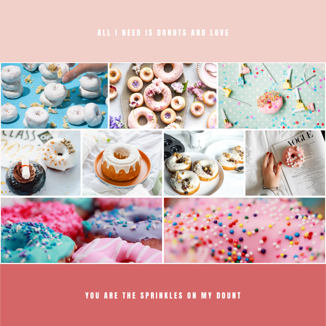 Instagram Post template: Donuts And Love Instagram Post (Created by Collage's Instagram Post maker)