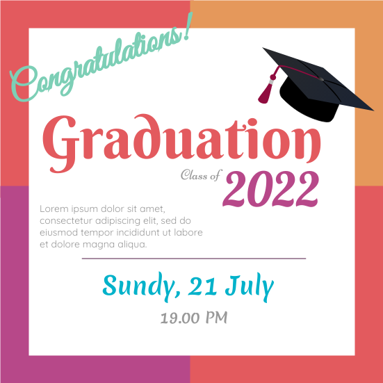 Invitation template: Graduation (Created by InfoART's Invitation marker)