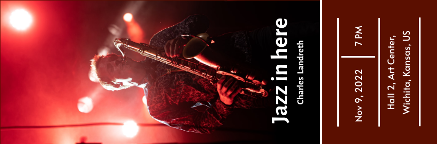 Ticket template: Ticket for Jazz Music Festival (Created by InfoART's Ticket maker)