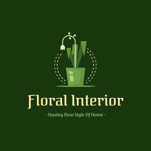 Logo template: Floral Logo Generated For Interior Design (Created by InfoART's Logo maker)