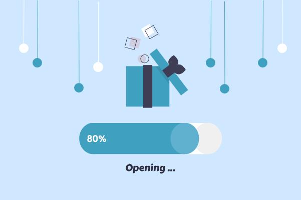 Progress template: Opening Present (Created by InfoChart's Progress maker)