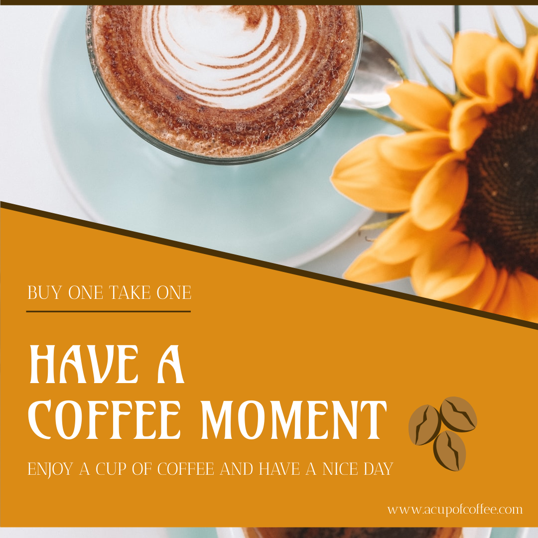 Instagram Post template: Orange Coffee Shop Instagram Post (Created by InfoART's Instagram Post maker)