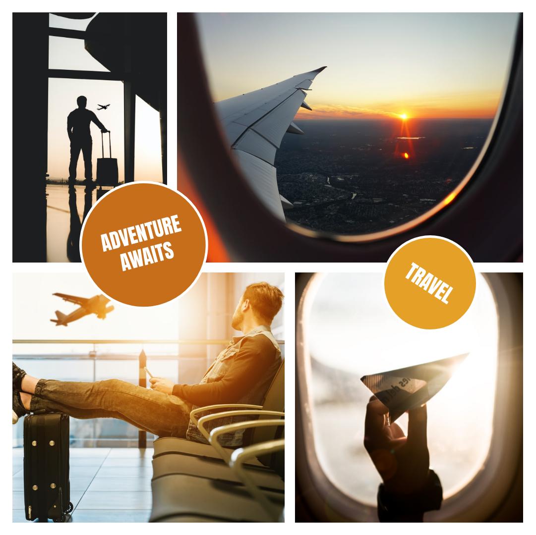 Instagram Post template: Adventure Awaits Instagram Post (Created by Collage's Instagram Post maker)