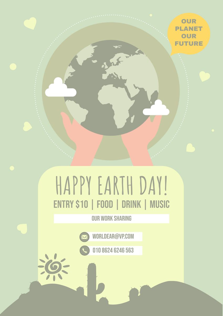Poster template: World Earth Day Awareness Poster (Created by InfoART's Poster maker)