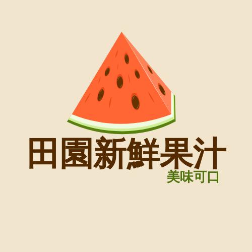 Logo template: 鮮榨果汁徽標 (Created by InfoART's Logo maker)