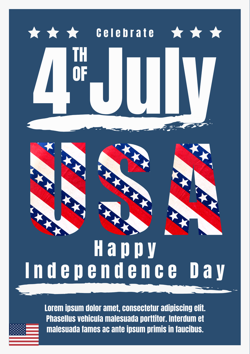 Poster template: Happy Independence Day USA Poster (Created by InfoART's Poster maker)