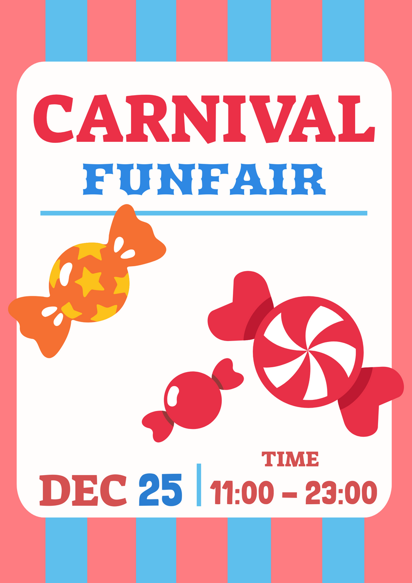 Poster template: Carnival Funfair (Created by InfoART's Poster maker)