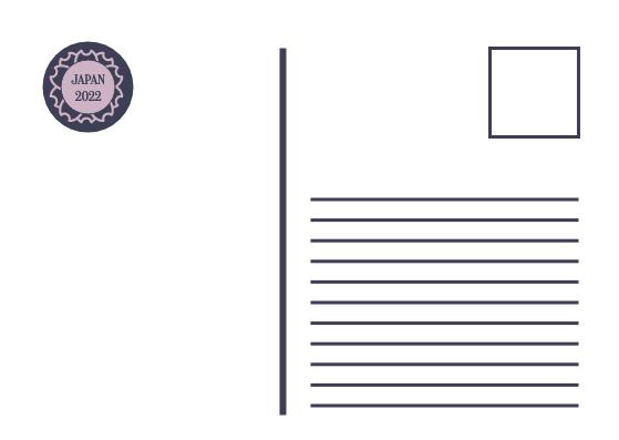 Postcard template: Japan Kimono Postcard (Created by InfoART's Postcard maker)