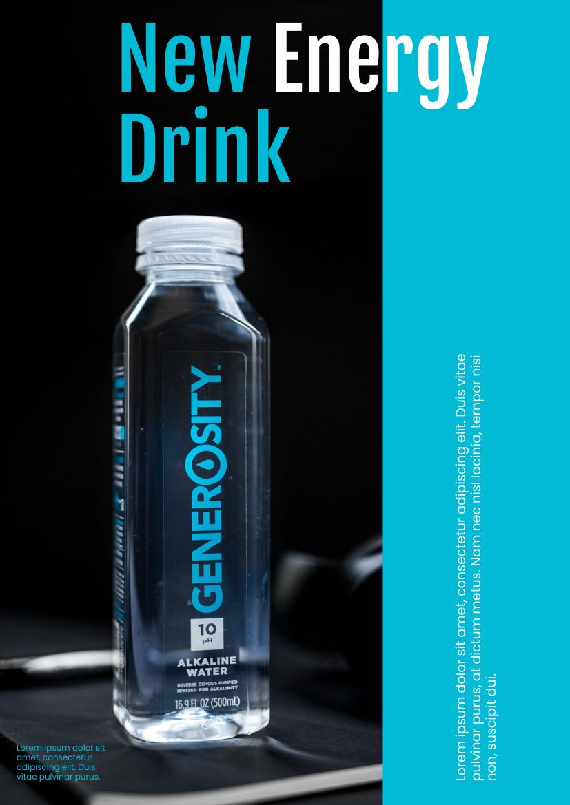 Flyer template: New Energy Drink Flyer (Created by InfoART's Flyer maker)