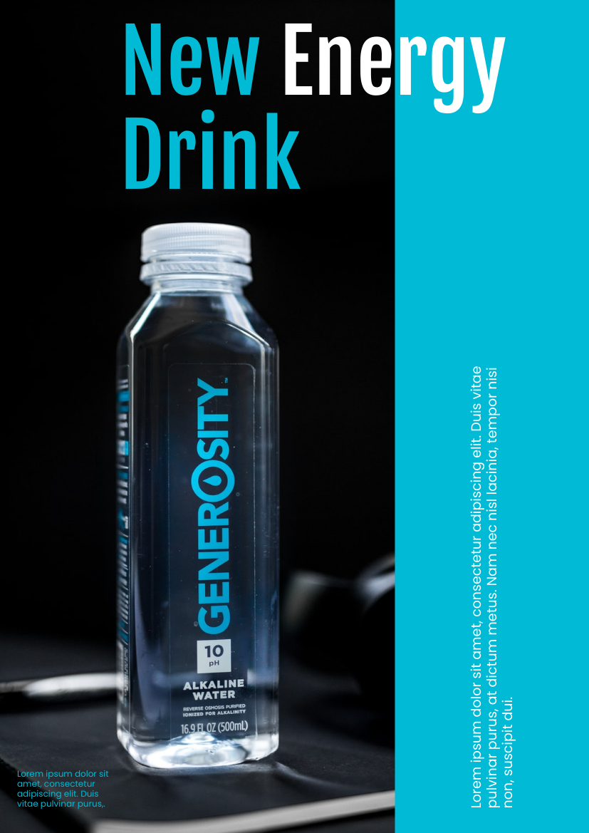 Flyer template: New Energy Drink (Created by InfoART's Flyer maker)