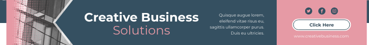 Banner Ad template: Creative Business Solutions Banner Ad (Created by InfoART's Banner Ad maker)