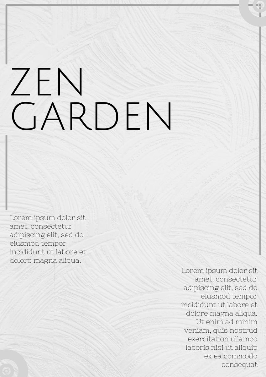 Poster template: Zen Garden Poster (Created by InfoART's Poster marker)