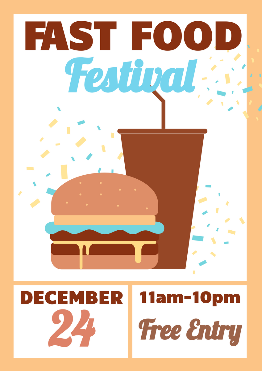 Poster template: Fast Food Festival Poster (Created by InfoART's Poster maker)