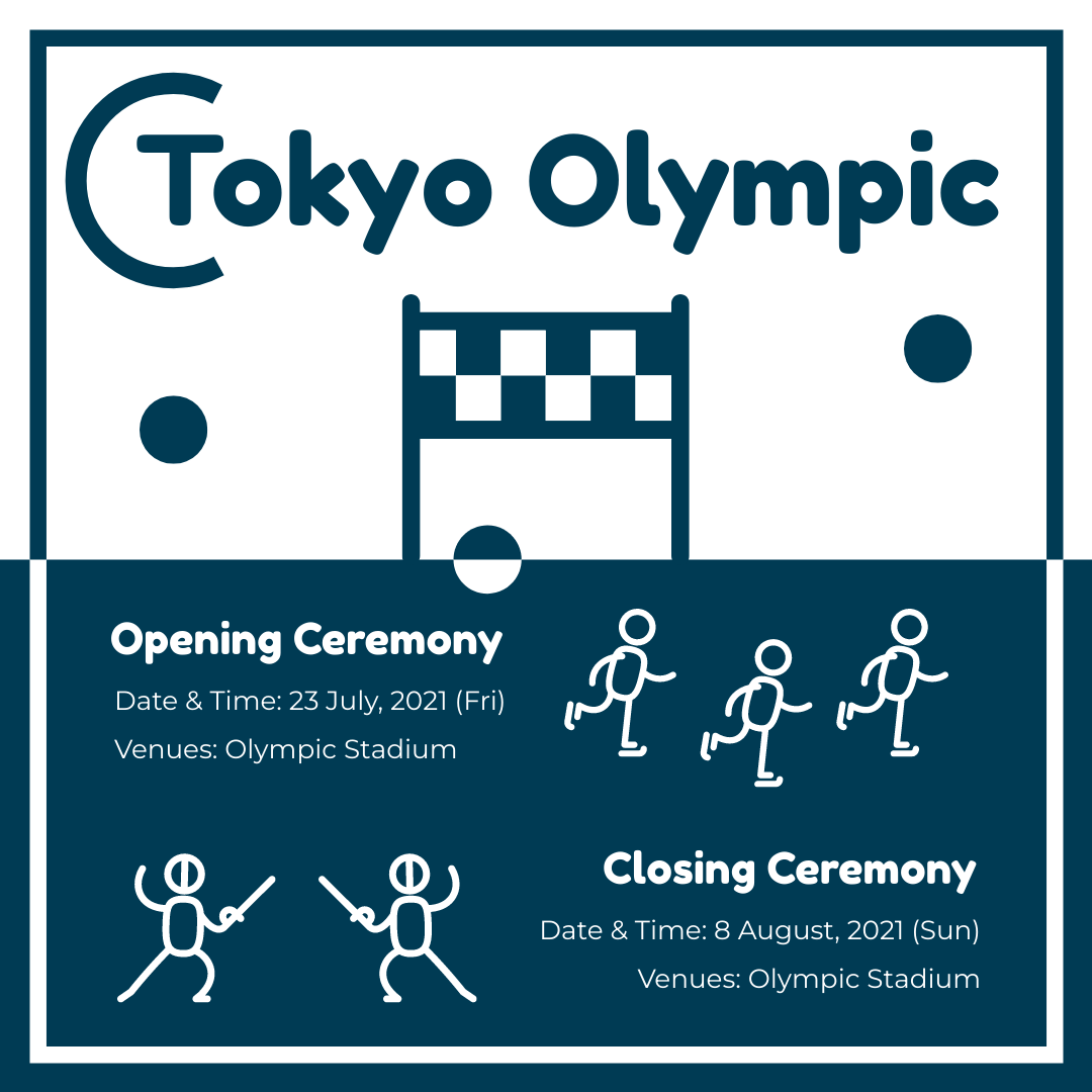 Instagram Post template: Tokyo Olympic Ceremony Instagram Post (Created by InfoART's Instagram Post maker)